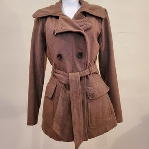 New York & Co Women's Double Breasted Wool Peacoat